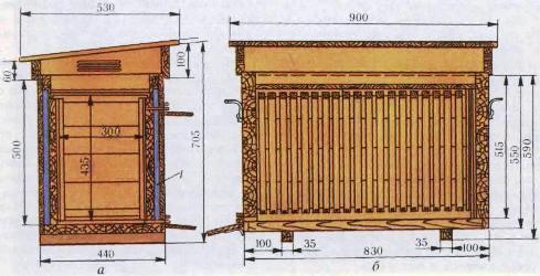 размеры улья лежака на 20 рамок фото